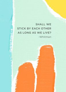 We Stick By Each Other Friendship Card,