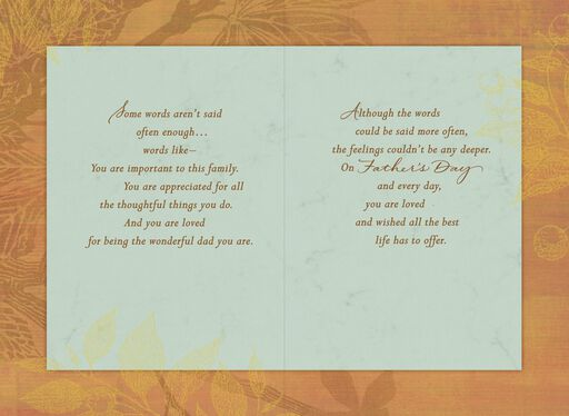 Striped Frame Father's Day Card,