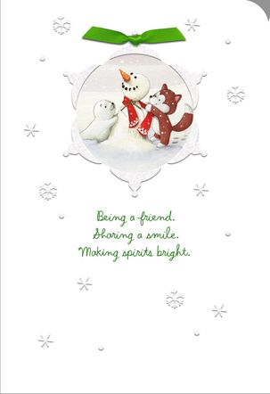 Sharing a Smile Christmas Card for Friend