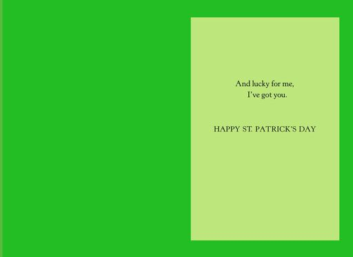 Lucky in Love St. Patrick's Day Card,