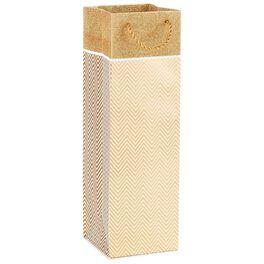 "Gold Chevron Bottle Gift Bag, 13"", , large"