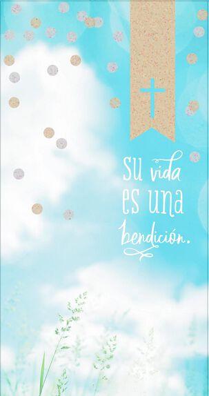 Blessings Spanish-Language Money Holder Congratulations Card