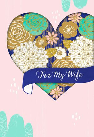 Wife Love You With All My Heart Mother's Day Card
