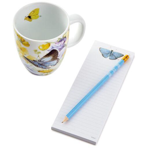 Marjolein Bastin Blue Butterflies Mug And Stationery Gift Set