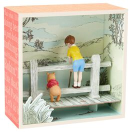 Winnie the Pooh and Christopher Robin on a Bridge Shadow Box, , large