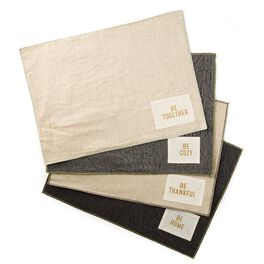 Home/Together/Thankful/Cozy Chambray Placemats, Set of 4, , large
