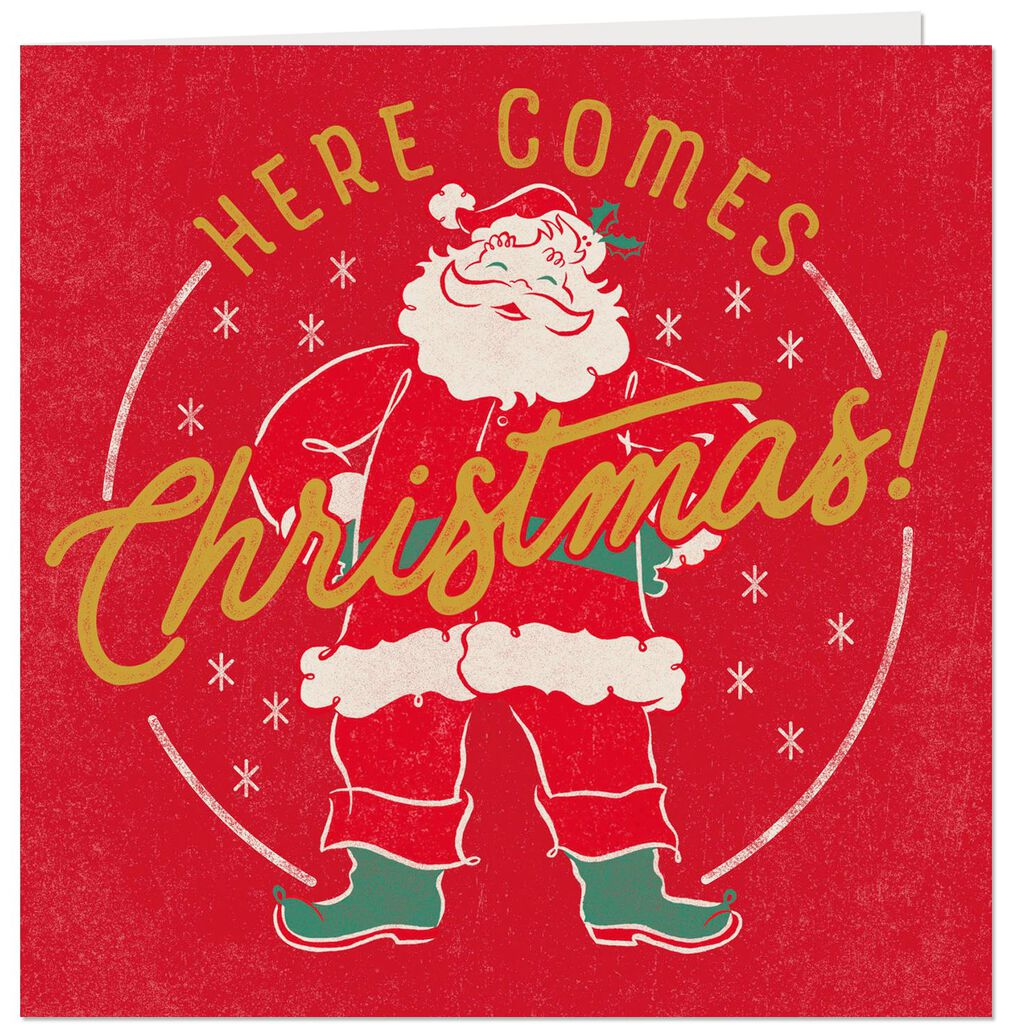 Vintage Santa Claus Musical Christmas Card - Greeting Cards - Hallmark