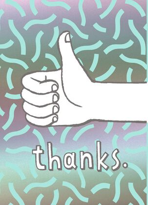 Thumbs Up Blank Thank You Card