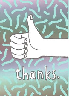 Thumbs Up Blank Thank You Card,