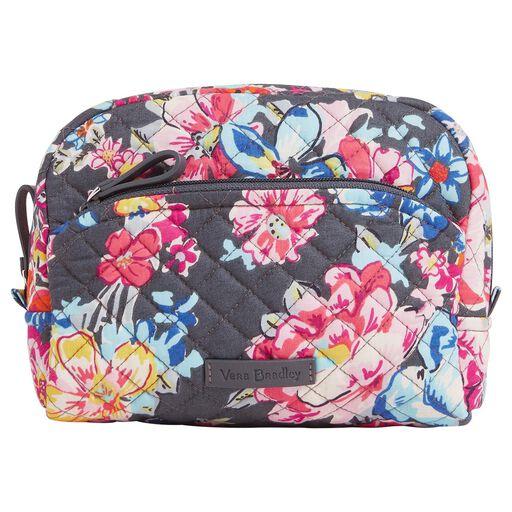 Vera Bradley Iconic Medium Cosmetic Bag in Pretty Posies 28f06c597a447