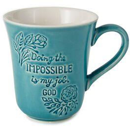 God's Job Is Doing the Impossible Mug, 12 oz., , large