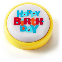 Happy Birthday Mini Sound Button with Light, , large
