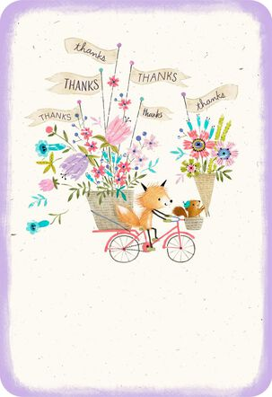 Special Flower Delivery Thank You Card