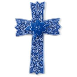 Blue Ceramic Cross, , large