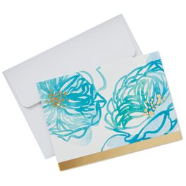 Watercolor Blooms Blank Note Cards, Pack of 10, , large