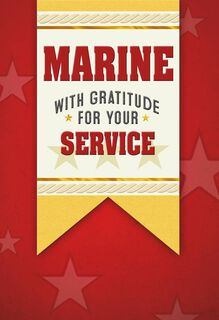 United States Marine Veterans Day Card,
