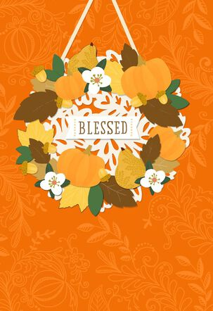 Blessed Religious Thanksgiving Card