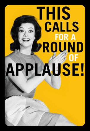 A Round of Applause Funny Congratulations Card