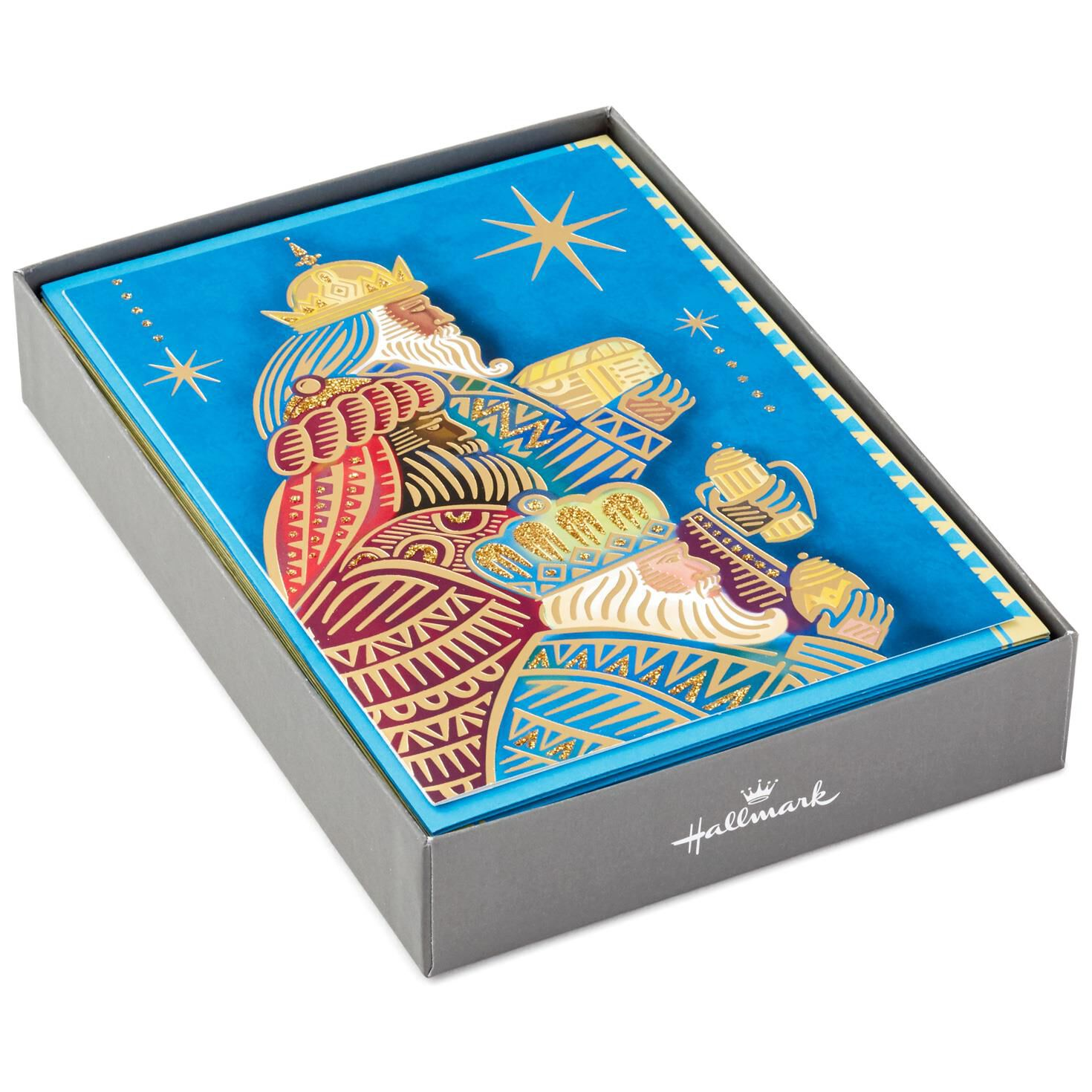 wise men with gifts religious christmas cards box of 16 boxed cards hallmark - Religious Christmas Gifts