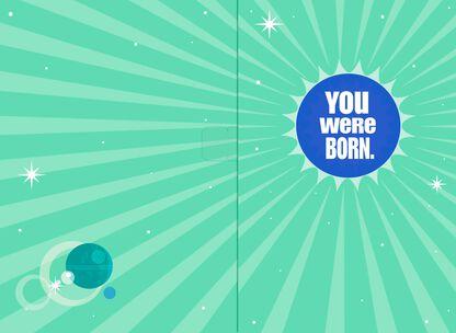 Star WarsTM Millennium FalconTM A Long Time Ago Musical Birthday Card