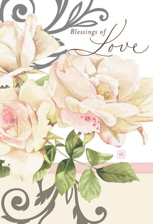 Marjolein Bastin Blessings of Love Religious Anniversary Card