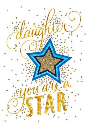 Superstar Daughter Congratulations Card