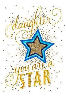 Superstar Daughter Congratulations Card,