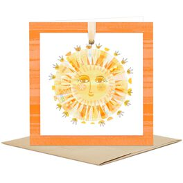 Smiling Sun Blank Card, , large
