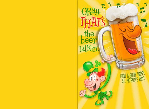 Drunk Leprechaun Funny Musical St. Patrick's Day Card,