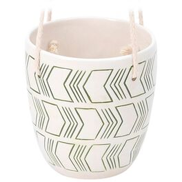 """Small Green Arrows Hanging Pot, 5"""", , large"""