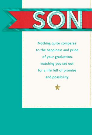 So Proud of You Graduation Card for Son