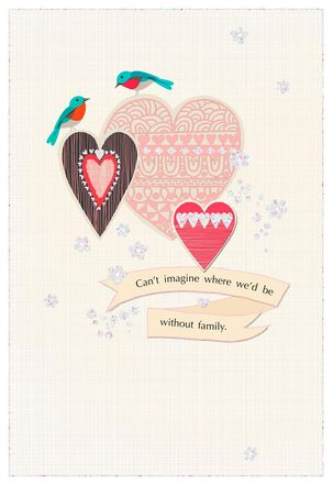 Birds and Hearts Anniversary Card