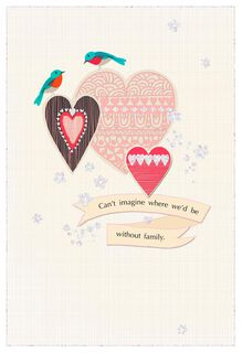 Birds and Hearts Anniversary Card,