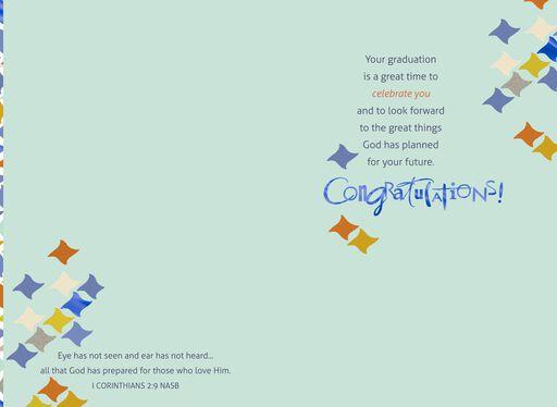 Geometric Religious Graduation Card,