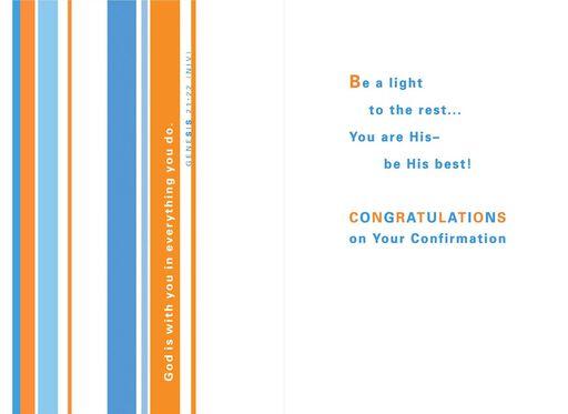 Live Your Faith Confirmation Card,