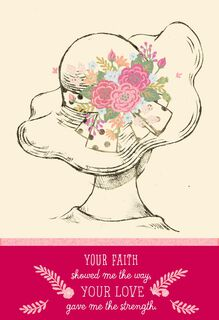 Faith, Love and Strength Mother's Day Card,