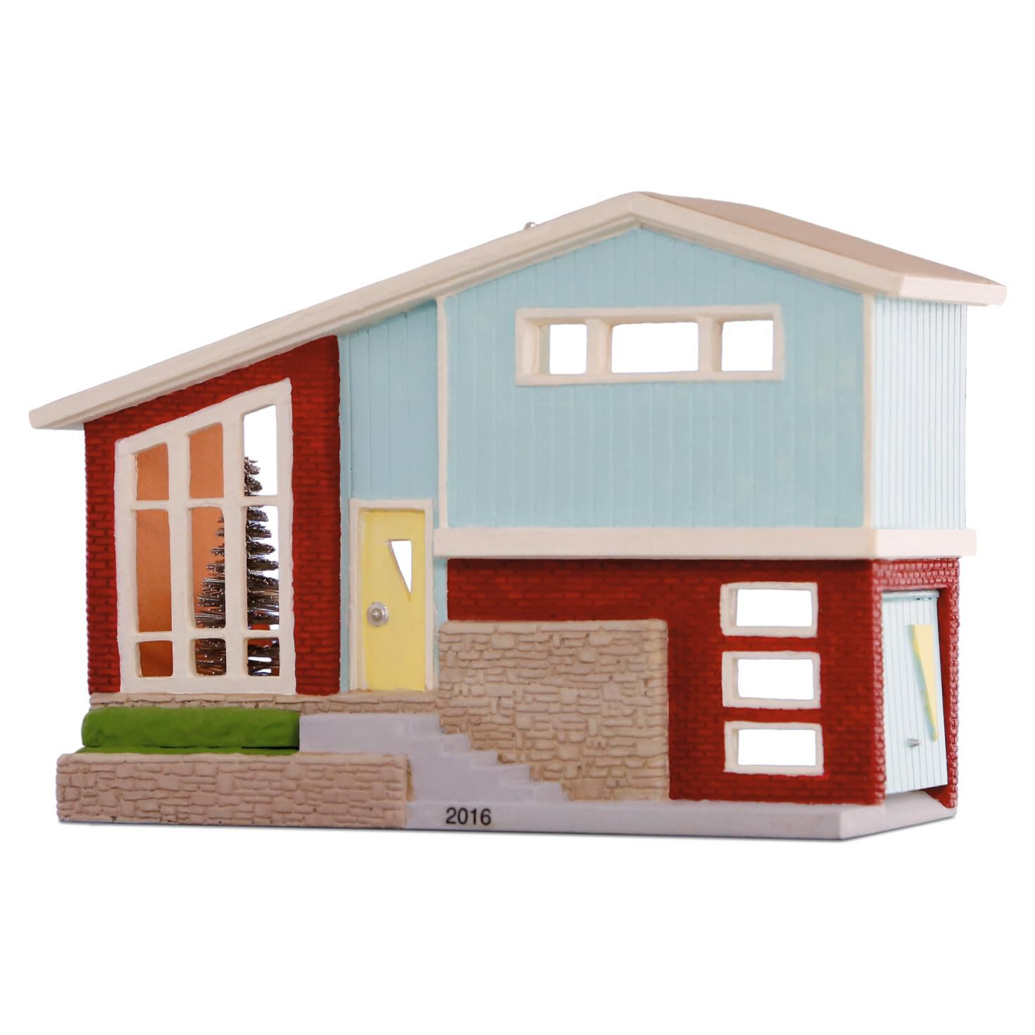 nostalgic houses and shops split level dream home ornament