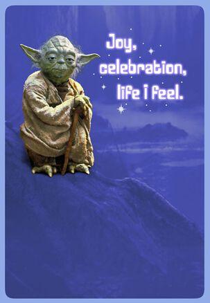Yoda™ Joy and Celebration Birthday Card