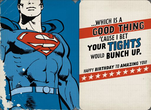 Amazing Guy Superman™ Funny Musical Birthday Card,