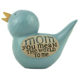 Mom You Mean the World to Me Bluebird Figurine, , large
