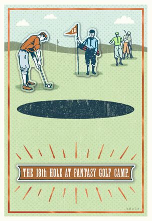 Fantasy Golf Camp Father's Day Card