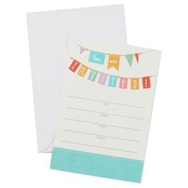 Colorful Banner Invitations, Pack of 10, , large
