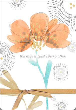 Heart Like No Other Encouragement Card