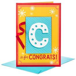 "Congrats! Banner Jumbo Congratulations Card, 16"", , large"