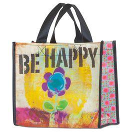 Natural Life Be Happy Gift Bag, Medium, , large