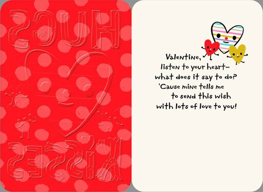 Hugs and Kisses Valentine's Day Card,