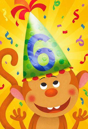 Go Bananas 6th Birthday Card