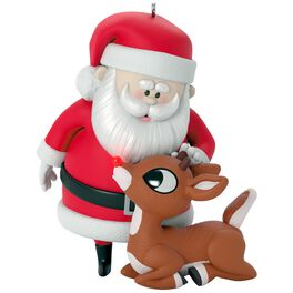 Rudolph the Red-Nosed Reindeer® Won't You Guide My Sleigh Tonight? Ornament With Light, , large