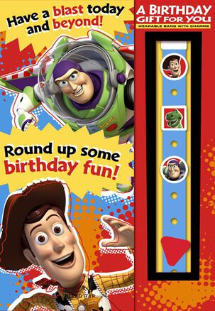 Toy Story Wristband Birthday Card