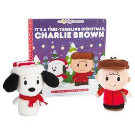 itty bittys® Peanuts® Christmas Stuffed Animals and Storybook Set, , large
